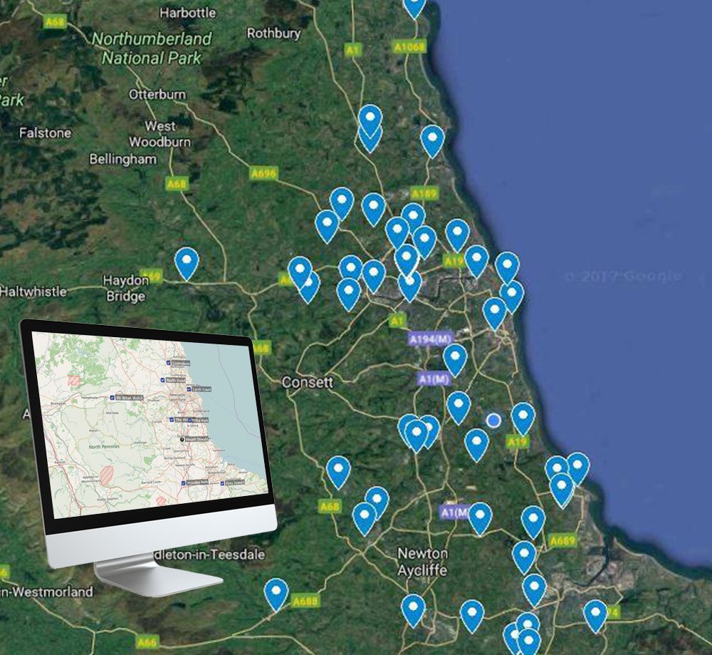 pumping station installations map